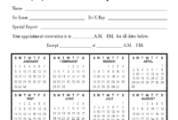 Calendar Appointment Cards intended for Chiropractic Travel Card Template