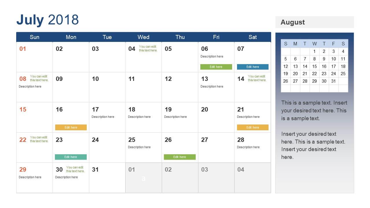 Calendar Ppt – Forza.mbiconsultingltd Inside Microsoft Powerpoint Calendar Template