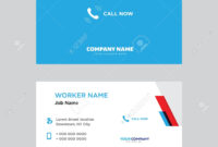 Call Now Business Card Design Template In Front And Back Illustration. with regard to Template For Calling Card