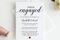 Calligraphy Engagement Invitation Template Script Engagement regarding Engagement Invitation Card Template