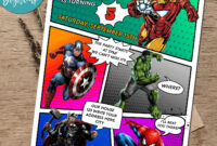 Calling All Avengers Comic Birthday Party Invitation Printable regarding Avengers Birthday Card Template