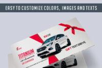 Car Showroom – Premium Gift Certificate Psd Template in Automotive Gift Certificate Template