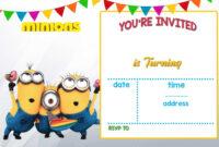 Cartoon Invitation Ppt Template   Minion Birthday in Minion Card Template