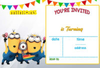 Cartoon Invitation Ppt Template | Minion Birthday inside Superhero Birthday Card Template