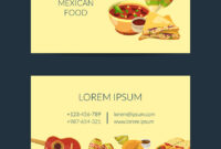 Cartoon Mexican Food Business Card Template throughout Food Business Cards Templates Free