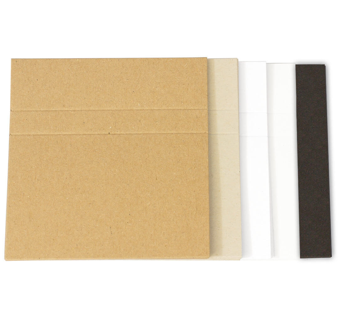 Cassette Case Blank J Cards - Brown Manila, Natural Recycled In Cassette J Card Template