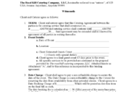 Catering Contract Template – 6 Free Templates In Pdf, Word intended for Catering Contract Template Word