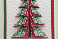 Cby Handmade – Christmas Greeting Card With Paper-Folded 3-D pertaining to 3D Christmas Tree Card Template