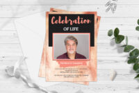 Celebration Of Life Funeral Program Invitation Card Template with Funeral Invitation Card Template