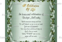 Celebration Of Life Invitation Irish Background | Zazzle inside Funeral Invitation Card Template