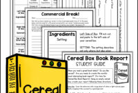 Cereal Box Book Report Project | Book Report Templates, Book within Cereal Box Book Report Template