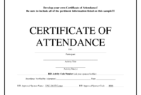 Certificate Attendance Template – Zimer.bwong.co pertaining to Certificate Of Attendance Conference Template