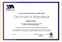 Certificate Attendance Templatec Certification Letter throughout Perfect Attendance Certificate Template