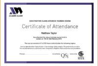 Certificate Attendance Templatec Certification Letter Throughout Perfect Attendance Certificate Template