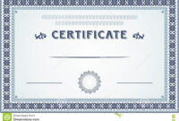 Certificate Border And Template Design Stock Vector for Certificate Border Design Templates