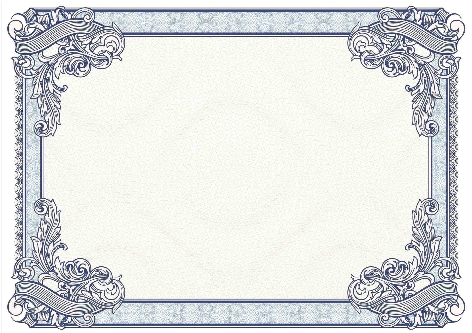 Certificate Borders Design Unique Certificate Border Design For Certificate Border Design Templates