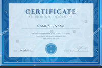 Certificate Diploma Completion Design Template Background in Scroll Certificate Templates