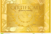 Certificate, Diploma Golden Design Template, Colorful throughout Scroll Certificate Templates