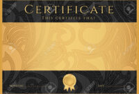Certificate, Diploma Of Completion Black Design Template intended for Scroll Certificate Templates