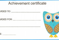 Certificate For Kid Template – Certificate Templates within Certificate Of Achievement Template For Kids