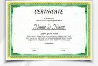 Certificate Landscape Template Stock Vector – Illustration inside Landscape Certificate Templates