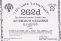 Certificate Of Achievement Army Form – Zimer.bwong.co for Certificate Of Achievement Army Template