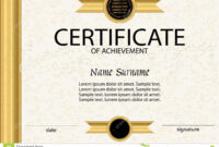 Certificate Of Achievement Or Diploma Template. Vector Stock pertaining to Certificate Of Attainment Template