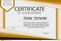 Certificate Of Achievement Template. Horizontal. Stock pertaining to Certificate Of Attainment Template