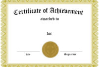 Certificate Of Achievement Templates | Loving Printable regarding Superlative Certificate Template