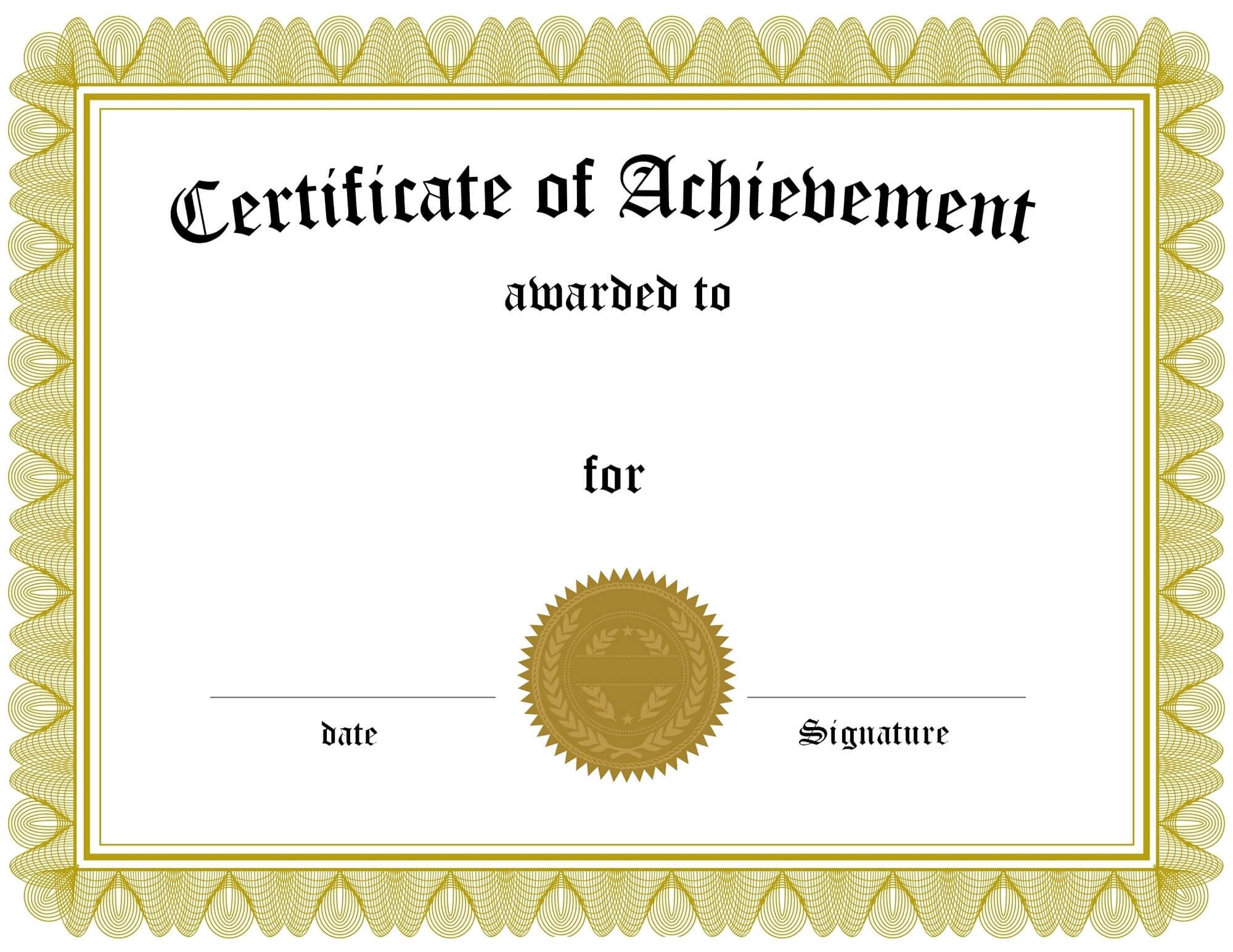 Certificate Of Achievement Templates   Loving Printable Regarding Superlative Certificate Template