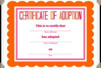 Certificate Of Adoption Template | Certificate Of in Adoption Certificate Template