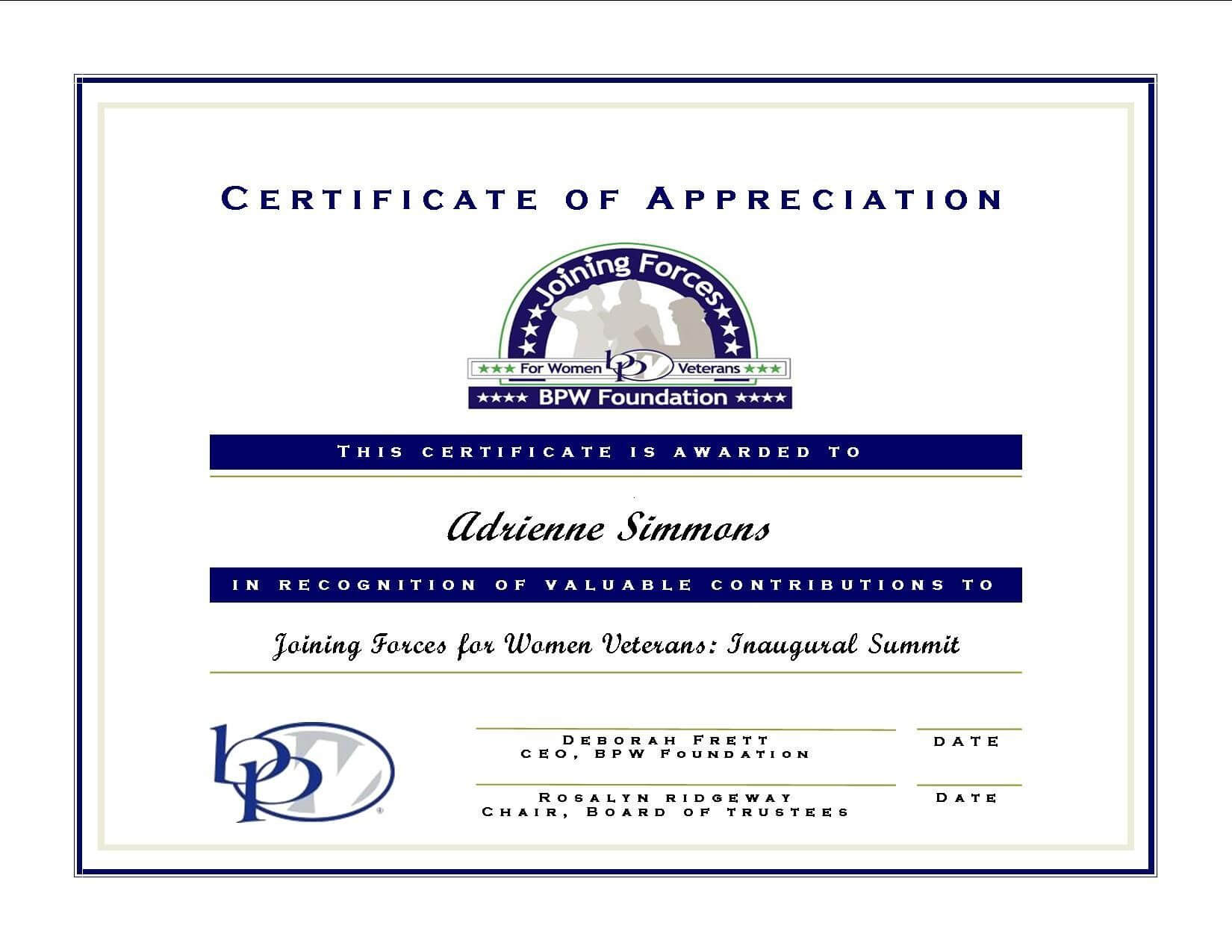 Certificate Of Appreciation For Guest Speaker Template Within Certificate Of Attendance Conference Template