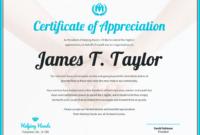Certificate Of Appreciation inside Volunteer Award Certificate Template