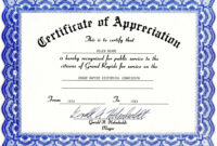 Certificate Of Appreciation Template – The Certificate Has A throughout Certificates Of Appreciation Template