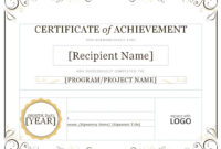 Certificate Of Attainment Template – Diafreetarget with regard to Certificate Of Attainment Template