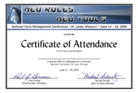 Certificate Of Attendance Conference Template ] – Of for Attendance Certificate Template Word