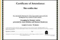 Certificate Of Attendance Template Word Ukran Agdiffusion with Conference Certificate Of Attendance Template