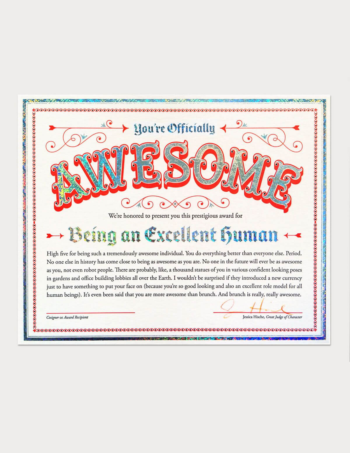 Certificate Of Awesomeness | Funny Certificates, Good Boss Pertaining To Free Printable Funny Certificate Templates