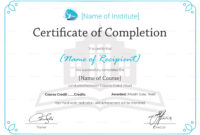 Certificate Of Completion Of Training Template – Zimer.bwong.co regarding Training Certificate Template Word Format
