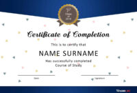Certificate Of Completion Of Training Template – Zimer.bwong.co with Army Certificate Of Completion Template