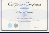 Certificate Of Completion Template Botany Theme with Certification Of Completion Template