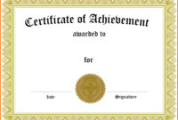 Certificate Of Completion Template Free Printable That Are within Certificate Of Completion Template Free Printable
