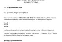 Certificate Of Destruction Template – Fill Online, Printable regarding Free Certificate Of Destruction Template