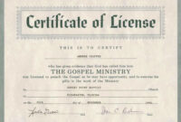 Certificate Of Ordination For Pastor Template in Free Ordination Certificate Template