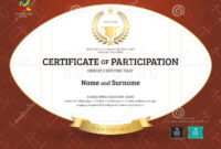 Certificate Of Participation Template In Sport Theme With for Rugby League Certificate Templates