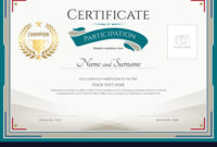Certificate Of Participation Template Inside Certification Of Participation Free Template
