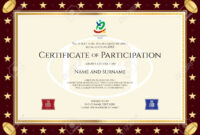 Certificate Of Participation Template – Zimer.bwong.co inside Templates For Certificates Of Participation