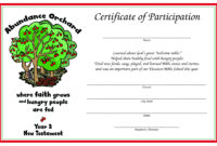 Certificate Of Participation – Year 2 (New Testament); Print in Free Vbs Certificate Templates