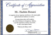 Certificate Of Recognition Wording Copy Certificate within Anniversary Certificate Template Free