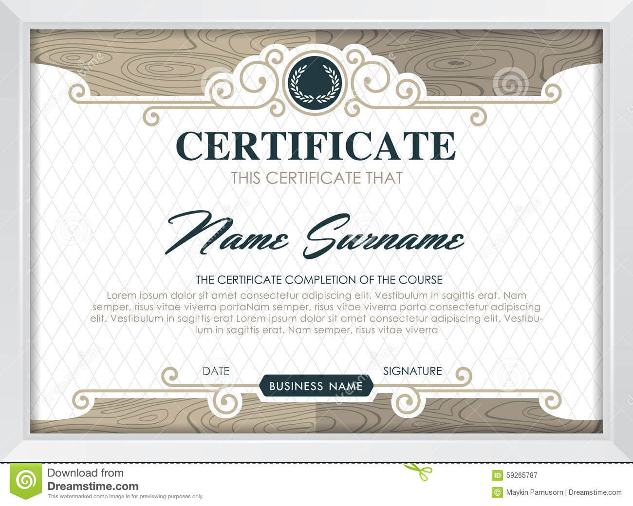 Certificate Stock Vector. Illustration Of Antique, Award Regarding Qualification Certificate Template